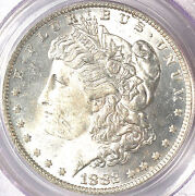 1882-o/s 1 Strong Ms63 Pcgs-only 266 In Higher Grade- Morgan Dollar