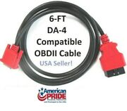 6' Obdii Obd2 Cable Compatible With Snap On Da-4 For Solus Ultra Scanner Eesc318