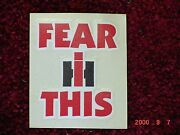 International Harvester Fear Ih This 2 Stickers
