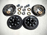 Add Brakes Basic Kit Dexter 8x6.5 Drums 9/16 Nuts 7000 12 Backing Plate Trailer