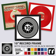 10 Inch Record Ep Colours Frame Wood Black White Colours Picture Frames
