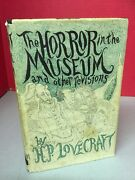 Horror In The Museum And Other Revisions H.p. Lovecraft 1970 1st Print Hc Book