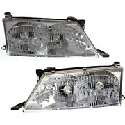 Headlights Headlamps Left And Right Pair Set New For 98-99 Toyota Avalon