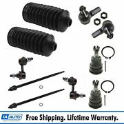Tie Rod End Lower Ball Joint Sway Bar Link Rack Boot Bellow Kit For 02-06 Cr-v