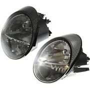 Headlight Set For 2003 2004 2005 Ford Thunderbird Left And Right With Bulb 2pc