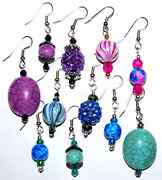 Alpine Ade Designs Artisan Earrings Purple Blue Turquoise Pink 1a-g Usa Made