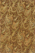 9x13 Sphinx Wool Hand Knotted Brown Paisley 19102 Rug - Approx 9and039 3 X 13and039 3