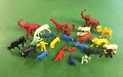 Vintage Marx Auburn Timme Zoo And Farm Animals 1/3254mm Scale Plastic Figures