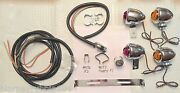 Harley Guide Dh-49 Bullet Lamp Turn Signal Kit Andrsquo36-61 Panhead 12v W/rear Bracket