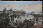 Wounded Aboard Gil Cohen Ww Ii 45 Canvas Co-signed By Capt. James E. Seamans