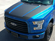 2015 2016 New Ford F-150 Hood Blackout Vinyl Graphics Decal Stripes F150 2017