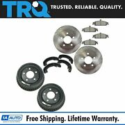 Trq Brake Rotor Ceramic Pad Drum And Shoe Front And Rear Kit For Chevy Pontiac New