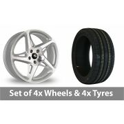 4 X 19 Dare River R-4 Silver Polished Alloy Wheel Rims And Tyres - 225/35/19