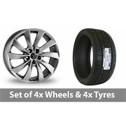 4 X 18 Wolfrace Lugano Shadow Chrome Alloy Wheel Rims And Tyres - 235/65/18