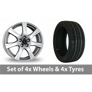 4 X 17 Wolfrace Twister Shadow Chrome Alloy Wheel Rims And Tyres - 205/45/17