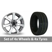 4 X 17 Wolfrace Twister Shadow Chrome Alloy Wheel Rims And Tyres - 245/40/17