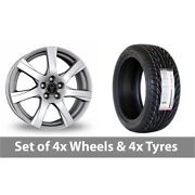 4 X 18 Wolfrace Twister Shadow Chrome Alloy Wheel Rims And Tyres - 255/35/18