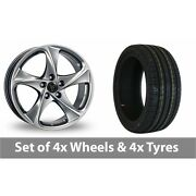 4 X 18 Wolfrace Catania Shadow Chrome Alloy Wheel Rims And Tyres - 225/50/18