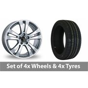 4 X 18 Wolfrace Dh Silver Alloy Wheel Rims And Tyres - 245/45/18