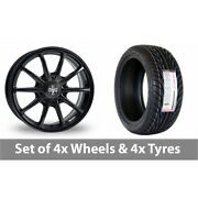 4 X 18 Wolfrace Pro-lite Eco 2 0 Black Alloy Wheel Rims And Tyres - 255/35/18
