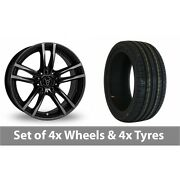 4 X 18 Wolfrace X10 Black Alloy Wheel Rims And Tyres - 225/45/18