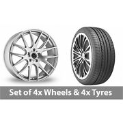 4 X 20 Wolfrace Munich Silver Polished Alloy Wheel Rims And Tyres - 275/35/20