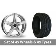 4 X 20 Wolfrace Quinto Suv Silver Alloy Wheel Rims And Tyres - 255/45/20