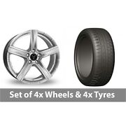 4 X 20 Wolfrace Quinto Suv Silver Alloy Wheel Rims And Tyres - 275/45/20