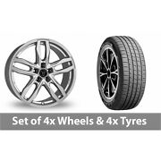 4 X 19 Wolfrace Temper Silver Alloy Wheel Rims And Tyres - 255/55/19