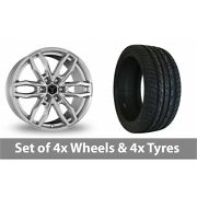 4 X 20 Wolfrace Temper 6 Silver Alloy Wheel Rims And Tyres - 275/40/20