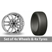 4 X 20 Wolfrace Temper 6 Silver Alloy Wheel Rims And Tyres - 275/45/20