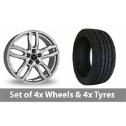 4 X 20 Wolfrace Temper Silver Alloy Wheel Rims And Tyres - 275/40/20