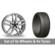 4 X 20 Wolfrace Temper Silver Alloy Wheel Rims And Tyres - 275/45/20
