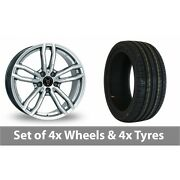 4 X 18 Wolfrace Drive Silver Alloy Wheel Rims And Tyres - 245/50/18