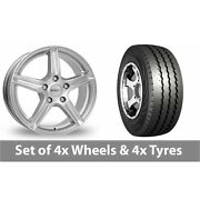 4 X 15 Dezent Silver Alloy Wheel Rims And Tyres - 225/70/15