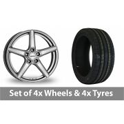 4 X 18 Dezent Rn High Gloss Alloy Wheel Rims And Tyres - 215/55/18