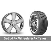 4 X 20 Dezent Th Silver Alloy Wheel Rims And Tyres - 275/35/20
