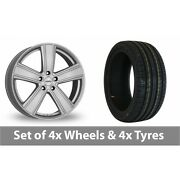 4 X 18 Dezent Th Silver Alloy Wheel Rims And Tyres - 245/45/18