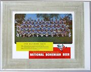1958 Baltimore Colts Team Photo National Bohemian Beer --proof