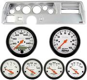 70-72 Chevelle Ss Silver Dash Carrier W/ Auto Meter Phantom Electric Gauges