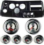 69 Chevelle Black Dash Carrier W/ Auto Meter 5 American Muscle Gauges W/ Astro