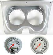 67 68 F Body Silver Dash Carrier W/ Auto Meter 5 Ultra Lite Electric Gauges