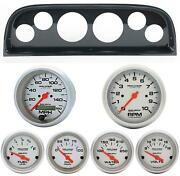 60-63 Chevy Truck Carbon Dash Carrier W/ Auto Meter Ultra Lite Electric Gauges