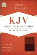 Kjv Large Print Ultrathin Reference - Brown/tan Leathertouch Thumb Index New