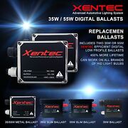 Two Xentec 35w 55w Hid Kit And039s Replacement Ballasts H4 H7 H11 H13 9006 9004 9007
