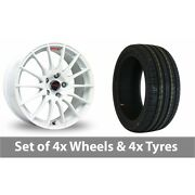 4 X 15 Fox Racing Fx004 White Alloy Wheel Rims And Tyres - 195/65/15