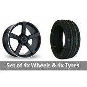 4 X 19 Fox Racing Ms003 Alloy Wheel Rims And Tyres - 245/40/19