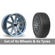 4 X 19 Axe Ex15 Silver Polished Alloy Wheel Rims And Tyres - 265/30/19