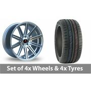 4 X 19 Axe Ex15 Silver Polished Alloy Wheel Rims And Tyres - 235/50/19