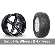 4 X 19 Axe Ex14 Black Polished Alloy Wheel Rims And Tyres - 255/50/19